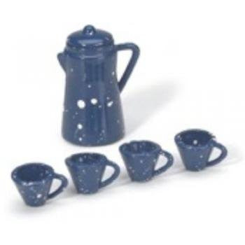 Darice Timeless Miniatures Coffee Pot Set W/Cups