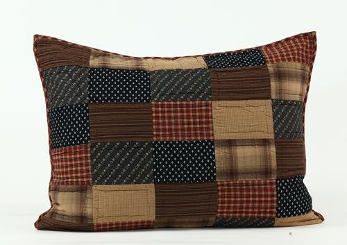 Patriotic Patch Luxury Sham 21x37""