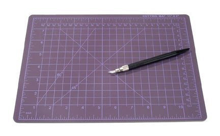 Cutting Mat Set - Includes Knife - Black - 8.5 x 11.75 inches