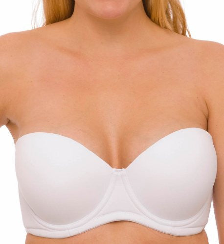 Seamless Molded Cup 5 Way Convertible Bra 42B, White