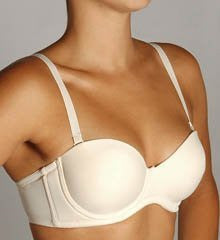 Seamless Molded Cup 5 Way Convertible Bra 40D, Nude
