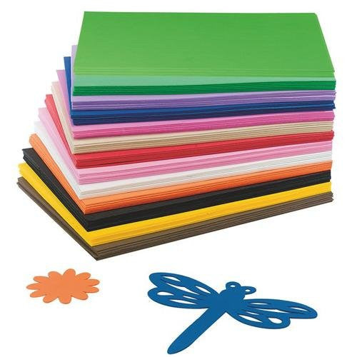 "EVA Foam Sheet Assortment, 9"" x 12"", 2mm thick (Pack of 78)"