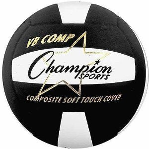Champion Sports VB Pro Comp Series Volleyball Color: Black (VB2BK)