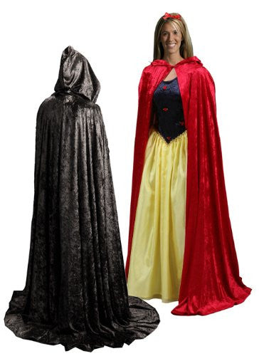"Adult Cloak Long Red (one size - 62"")"