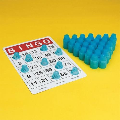 "Stacking 3-D Bingo Chips, 1-1/8"" D x 5/8""H (Pack of 250)"