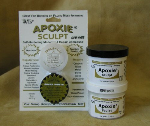 Super White Apoxie® 1/4 lb.