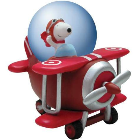 Peanuts Snoopy Flying Ace Water Globe