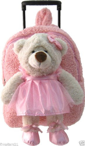 Plush Animal Rollers Ballet Bear Pink