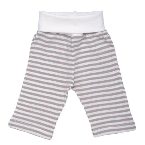 Rolled Waist Pant Tan Stripe 3-6m