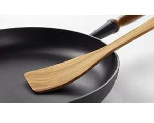 Olive Wood Curved Spatula 11.8""