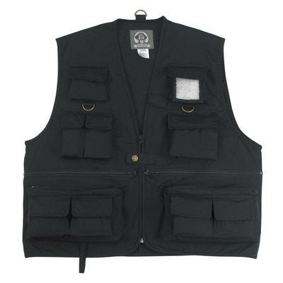 Uncle Milty Black Travel Vest - 3XL
