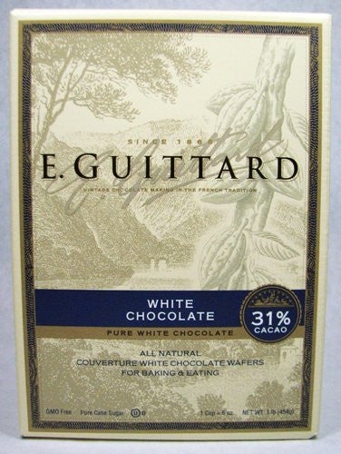 COUV WAFER 31% CACAO WHITE BOX 1# GUITTARD - Package