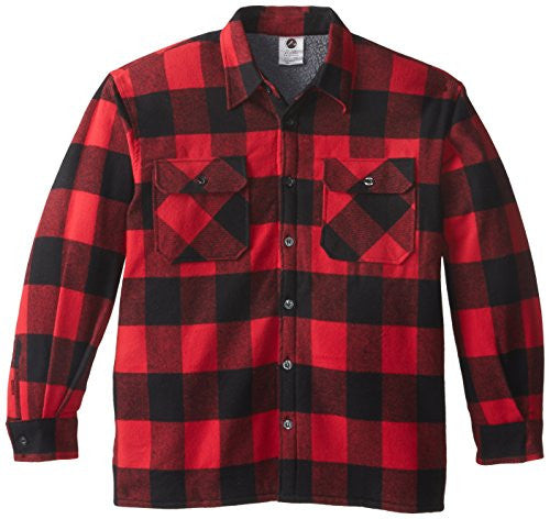 Red Extra Heavyweight Sherpa-lined Flannel Shirts - Medium