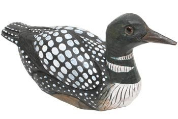 Loon Wood Carved 5""