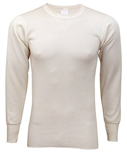 Indera Men's Extra Heavy Military Issue Top (Natural / 4X-Large)