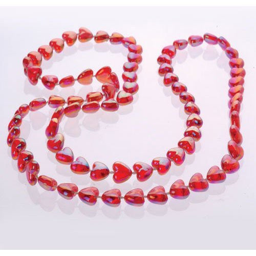 PEARLIZED HEART BEAD NECKLACES