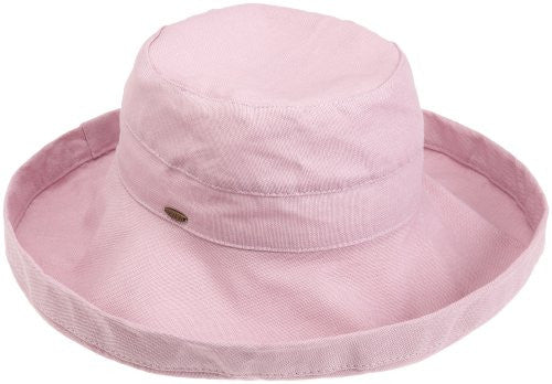 Scala Women's Cotton Big Brim Ultraviolet Protection Hat with Inner Drawstring (Mauve / One Size)