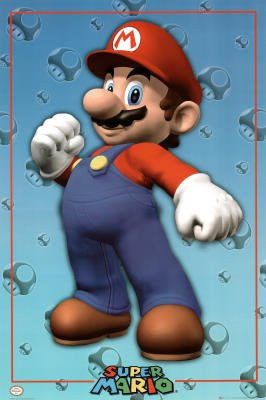 Nintendo (Mario) Video Game Poster Print - 24x36