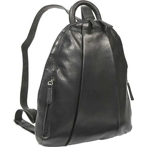 Teardrop Multi Zip Backpack Black