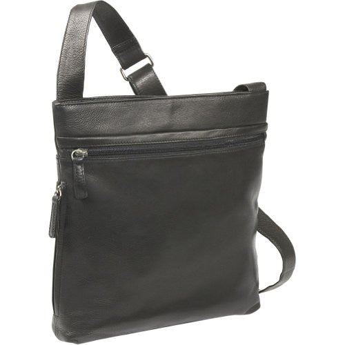 Top Zip Cross Body Black