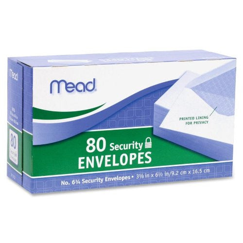 Mead Envelopes Security # 6 3/4 - 80ct