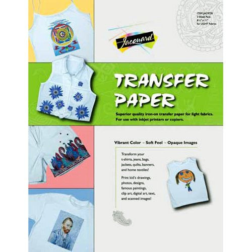 Transfer Paper for Light Fabric 3/pk