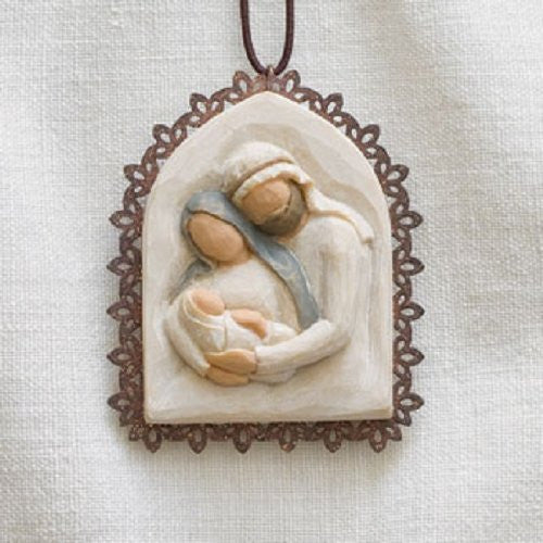 Holy Family Metal-edged Ornament