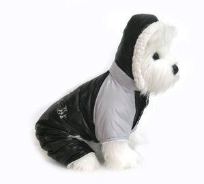 Black and Grey Ruffin It Dog Snow Suit Harness Small