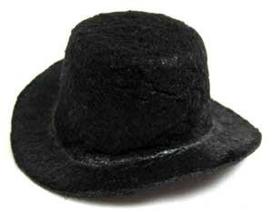 "Darice Stiffened Felt Top Hat 2"" Black"