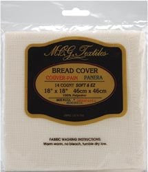 "Continental Bread Cover 14 Count 18""X18"" - Cream"