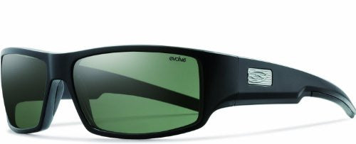 Lockwood Matte Black with Polarized Gray Green Lens