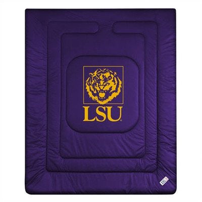 LOCKER ROOM COMFORTER Louisiana St Tigers - Color Purple - Size Queen