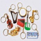 MUSICAL INSTRUMENT KEYCHAINS - 12pcs