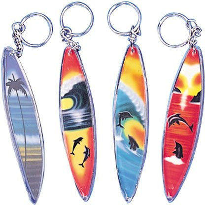 SURFBOARD KEYCHAINS - 12pcs
