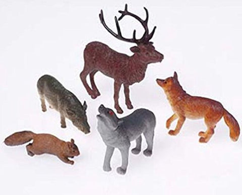 WOODLAND ANMALS - 12pcs