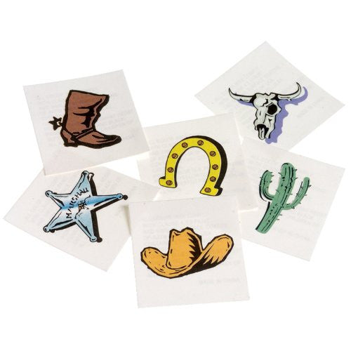 WESTERN TATTOOS - 144pcs