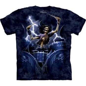 Death Drummer, Loose Shirt - Blue Adult XX-Large