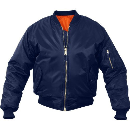 Air Force MA-1 Flight Jacket (Navy Blue, Size X-Large)