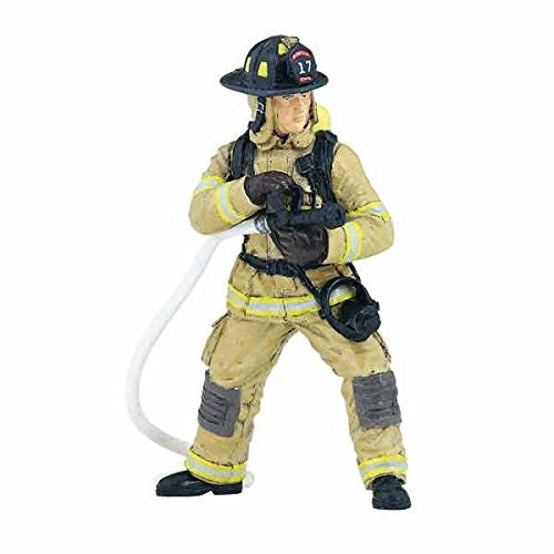 Yellow US Fireman With Hose