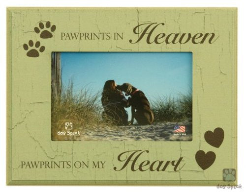 "Paw Prints in Heaven - 7"" x 9"" Picture Frame"