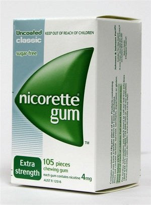Nicotine Gum 4mg, 105 pcs. - Classic Flavor (Pack of 6)