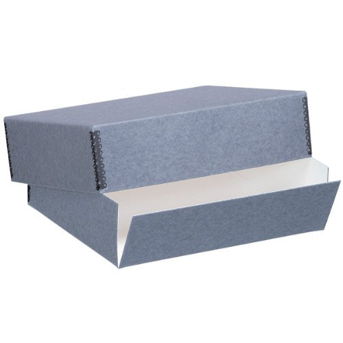 "Blue Gray Museum Storage Box, Holds 8.5"" x 11"""