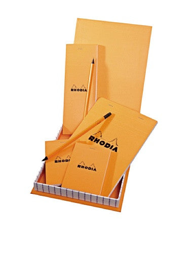 Rhodia Boutique Accessories Gift Box 7 x 9 x 1 Graph Orange