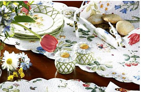"Wildflower Scalloped Table Runner - 36""L"