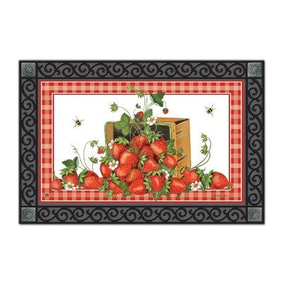 "Strawberry Basket Mat Mate, 18"" x 30"""