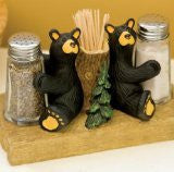 Bears Salt & Pepper Set with Toothpick Holder