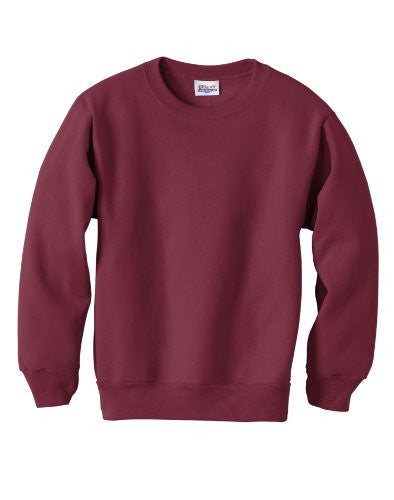 Hanes Youth ComfortBlend Long Sleeve Fleece Crew - p360 (Maroon / X-Small)
