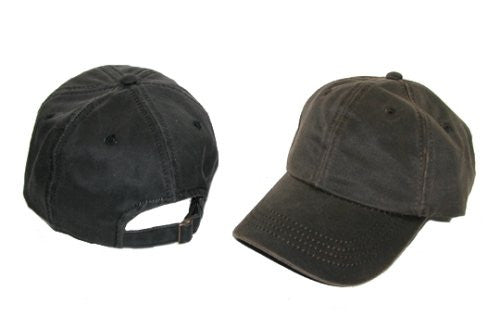 Scala Pro Baseball Caps Unstructured - Weathered Cotton, Antique T-Side - Black, One Size fits Most