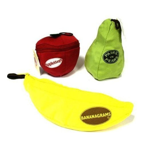 Bananagrams AND Appletters AND PairsinPears (3 Game Set) ORDER 1 OF EACH ITEM TO MATCH AMAZON LISTING