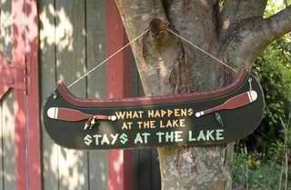 STAYS AT THE LAKE SIGN